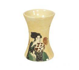 Аромалампа Гейша, 7х10 см, бежевая керамика
