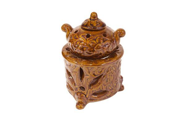 Аромалампа Горшочек, 9х12 см, коричневая керамика