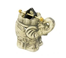 Аромалампа Слоник, 13х12 см, серая шамот керамика