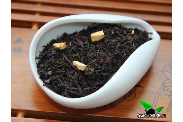Черный ароматизированный чай - Апельсин со сливками