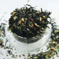Черный ароматизированный чай - Мятный апельсин