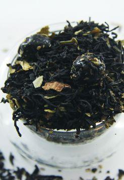 Черный ароматизированный чай - Свежая смородина