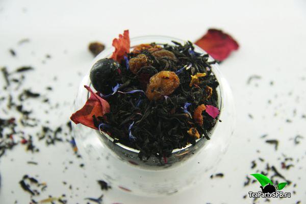 Черный ароматизированный чай - Виноградное утро
