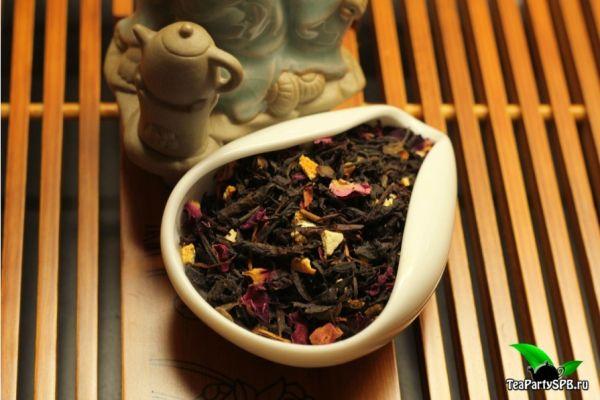 Черный ароматизированный чай - Глинтвейн