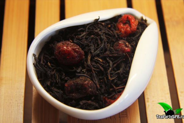 Черный ароматизированный чай - Дикая вишня