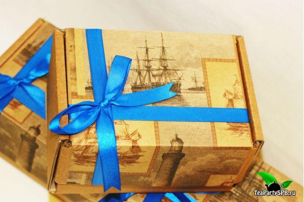 Подарочная коробка для чая и конфет №1