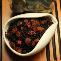 Черный ароматизированный чай - Клубника и дыня