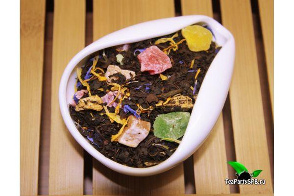 Черный ароматизированный чай - Мишки Гамми