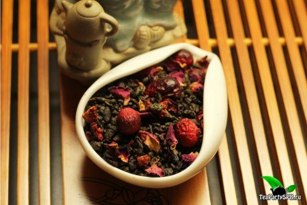 Зеленый ароматизированный чай - Ягодная сказка