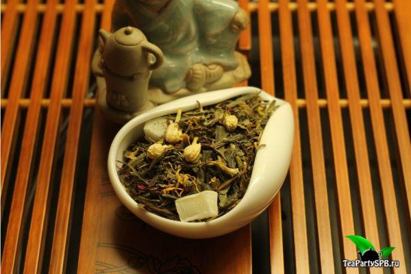 Зеленый ароматизированный чай - Сокровища Шаолиня