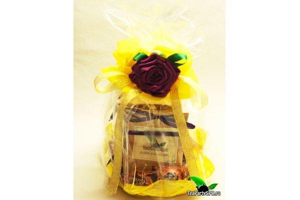 Подарочный набор из чая и конфет - «Комплимент»