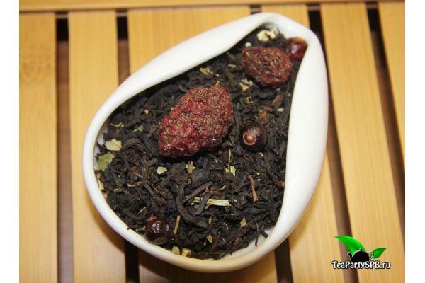 Черный ароматизированный чай - Лесные ягоды