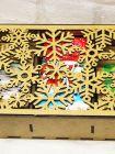 Подарочный набор в деревянной коробочке - «Снежинки» (чай, шоколад)