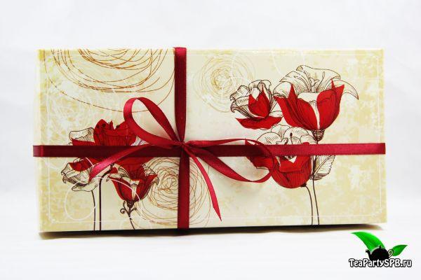 Чайно-шоколадный набор на 8 марта - «Прекрасные маки»