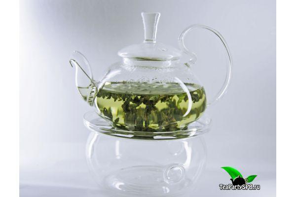 Представляем Вашему вниманию - Стеклянный чайник из жаропрочного стекла с высокой ручкой и подогревом, объем 450 мл
