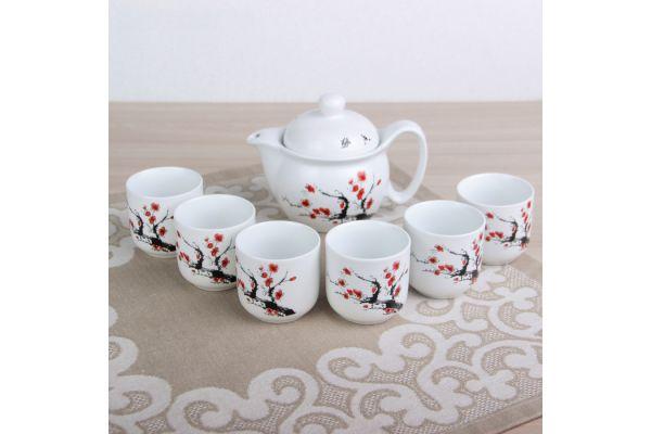 Набор посуды для чайной церемонии №4 (7 предметов, чайник 400мл, пиалы 6шт)