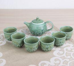 Набор посуды для чайной церемонии №3 (чайник 1шт, пиалы 6шт)