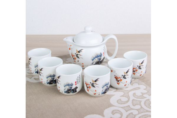Набор посуды для чайной церемонии №2 (7 предметов, чайник 400 мл, пиалы 6шт)
