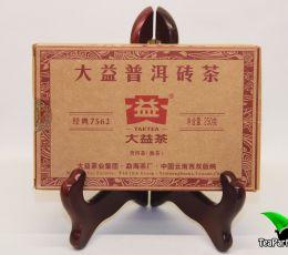 Мэнхай Да И 7562 Шу пуэр, 2016год, 250г (кирпич)