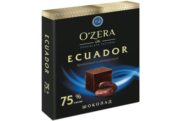 «O Zera» шоколад Ecuador 75%, 90г