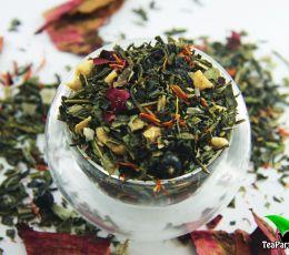 Зеленый ароматизированный чай - Лесная прохлада
