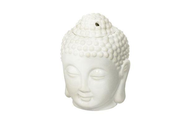 Аромалампа Будда, 13 см, белая керамика