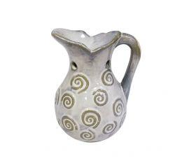 Аромалампа Кувшин, 11х13 см, бело-серая керамика