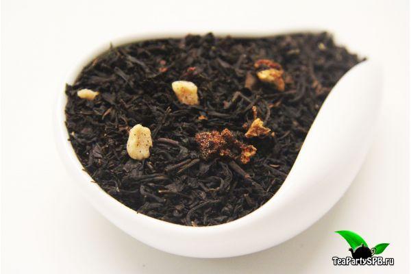 Черный ароматизированный чай - Клубничная поляна