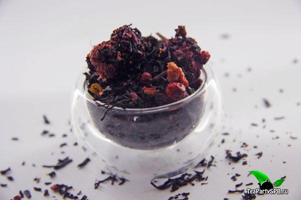 Черный ароматизированный чай - Лесная поляна