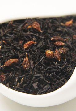 Черный ароматизированный чай - Облепиховый цвет