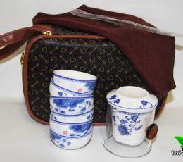 Дорожный набор для чайной церемонии в сумке-чехле