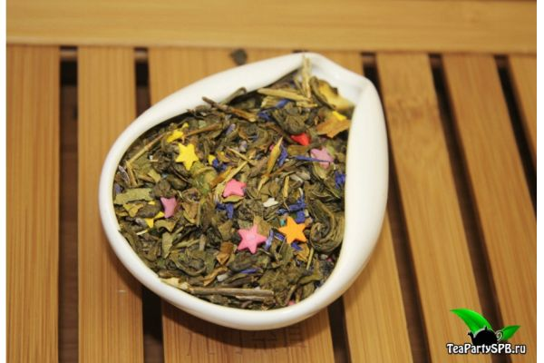 Зеленый ароматизированный чай - Улыбка