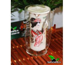 Стеклянная колба для заваривания чая 350мл (стекло-фарфор)