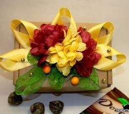 Подарочный набор из чая и конфет - «Солнце»