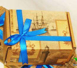 Подарочная коробка для чая и конфет - №1