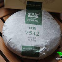 Мэнхай Да И 7542 Шен пуэр, 2014год, 150гр (блин)