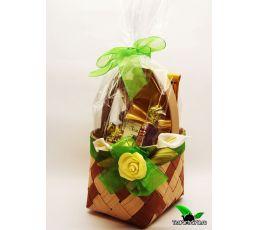 Подарочный набор из чая и конфет - «Лукошко»
