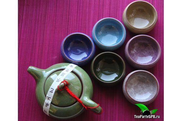 """Чайный сервиз (набор для чайной церемонии) """"Колотый лед"""""""