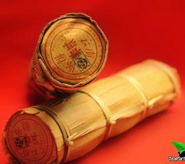 Шу пуэр, завёрнутый в бамбуковые листья 200гр