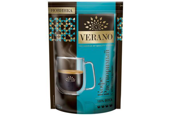 Кофе Verano натуральный растворимый с добавлением молотого, 75г