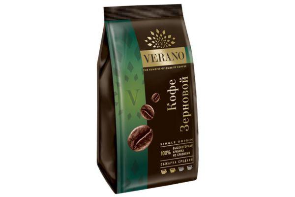 Кофе зерновой Verano, 100% арабика из Бразилии, 250г
