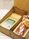 Подарочный набор в деревянной коробочке - «С новым годом!» (чай, сладости)