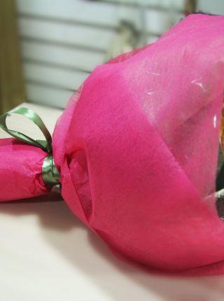 """Букет из чая и конфет - """"Розовые облака"""""""