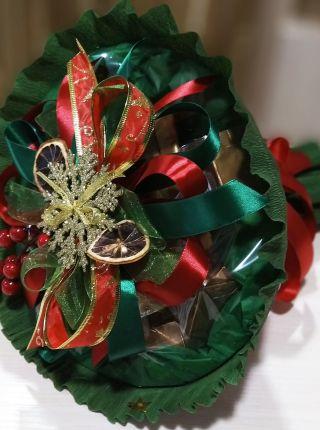 """Чайный букет с шоколадом """"Рождественский"""""""