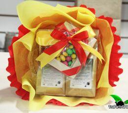 Чайный букет со сладостями