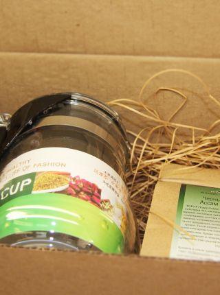 Набор к 23 февраля (чай + чайник) в крафт коробке  - «Все включено»