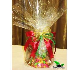 Новогодний чайный набор с кружкой и сладостями