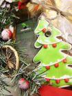 Новогодняя подарочная корзина с чаем и конфетами - «Зимняя сказка»