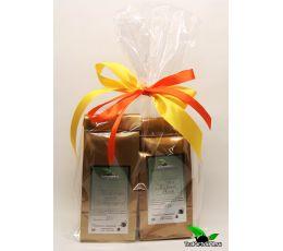 Оформление в подарочную пленку с бантом до 4-х пакетов чая