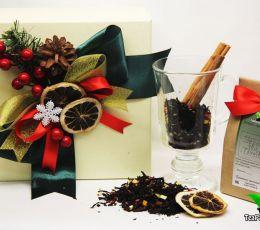 Подарочный набор из чая и посуды «Глинтвейн»